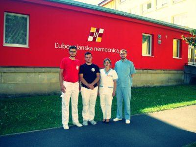 Študenti na praxi v Ľubovnianskej nemocnici