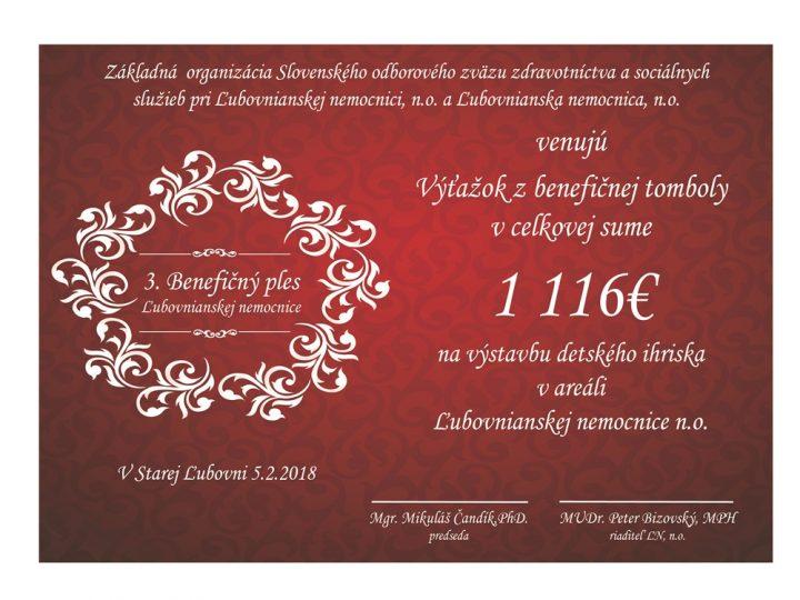 3. Benefičný ples Ľubovnianskej nemocnice, n.o.