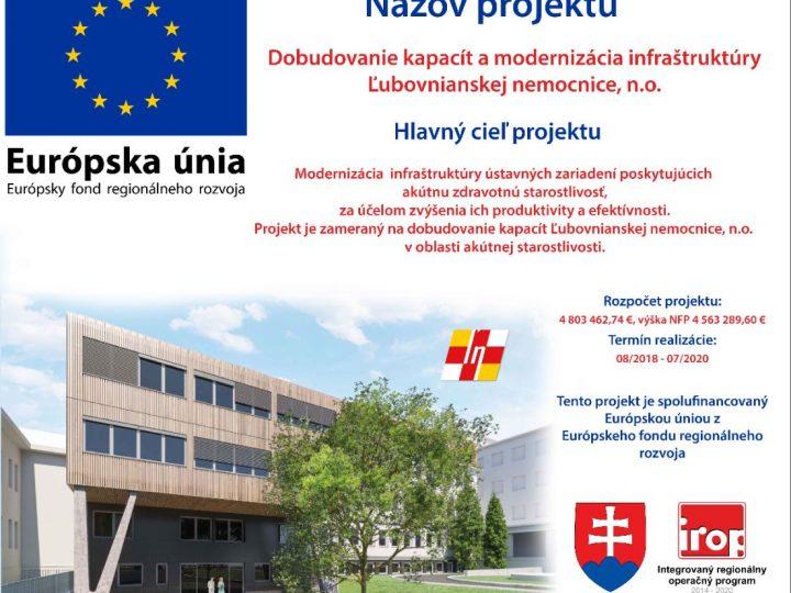 Projekt – Dobudovanie kapacít ĽN, n.o.
