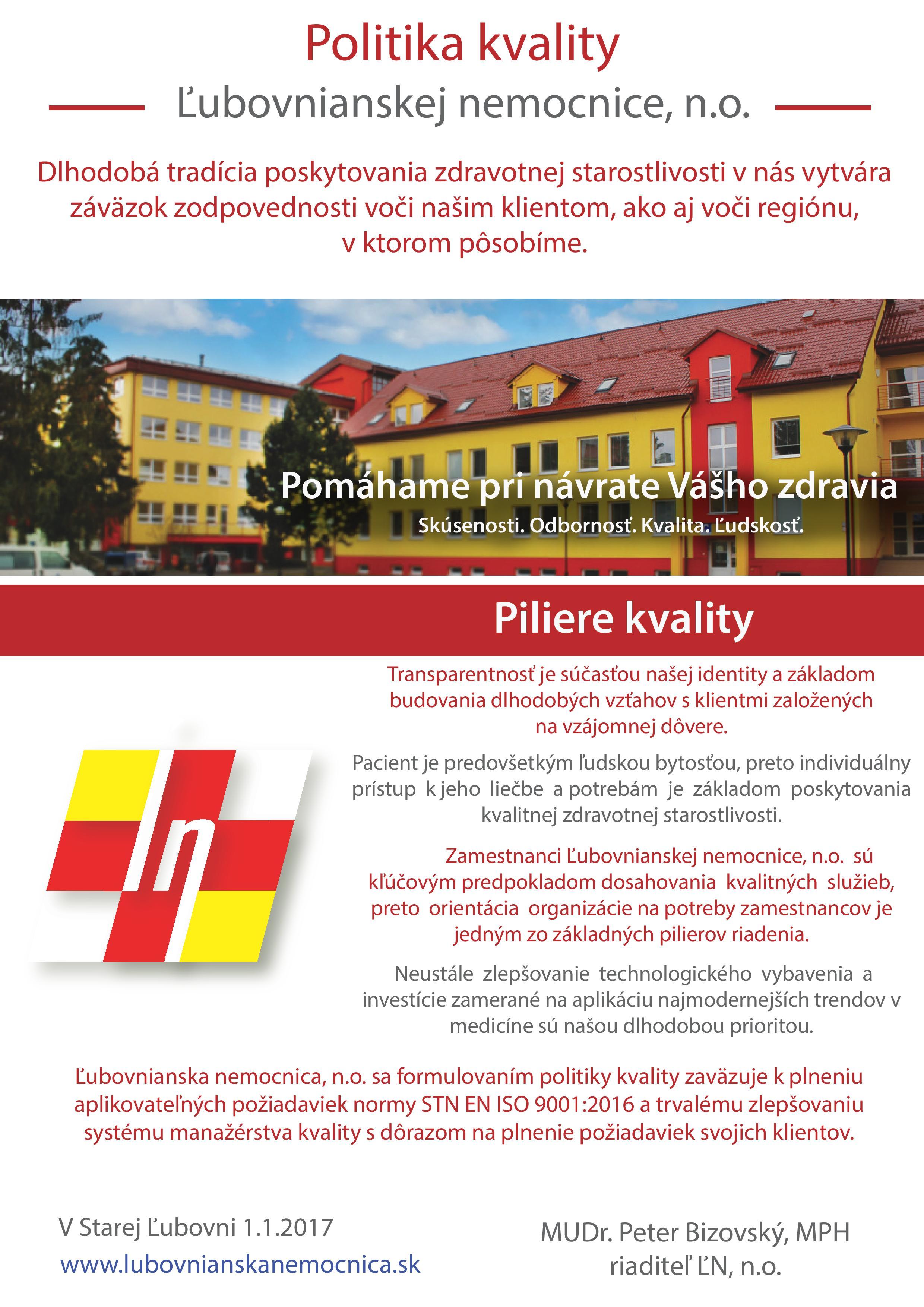 politika kvality 2017
